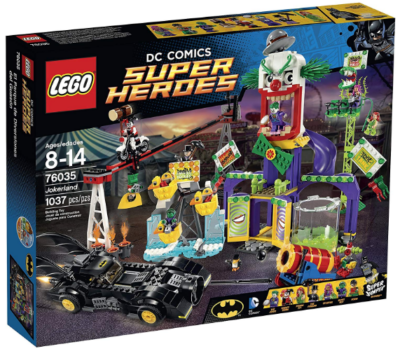This is an image of kid's lego super heroes jokerland building kit