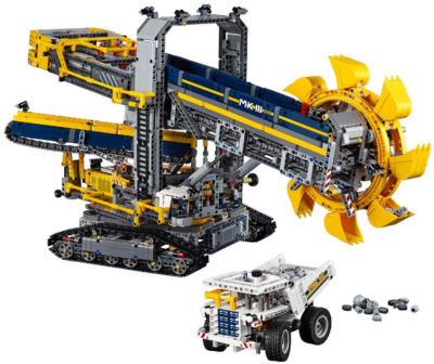 This is an image of LEGO technic bucket wheel excavator building kit