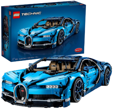 This is an image of LEGO technic bugatti chiron car building kit