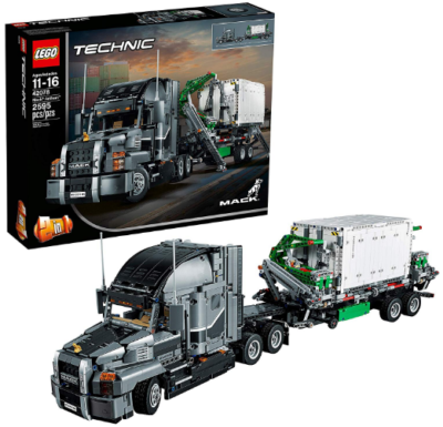 This is an image of LEGO technic anthem truck building kit in colorful colors