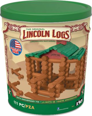 This is an image of an anniversary edition construction kit by LINCOLN LOGS.