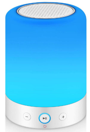 This is an image of boy's Lamp with bluetooth speaker in blue color