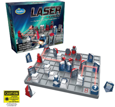 This is an image of boy's laser chess strategy game in blue and red colors