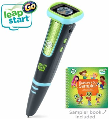 This is an image of a charcoal and green stylus and book activity set by LeapFrog.