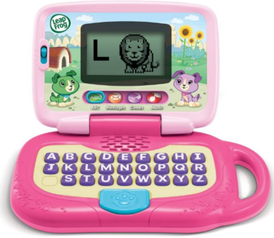 This is an image of girl's leaptop in pink color
