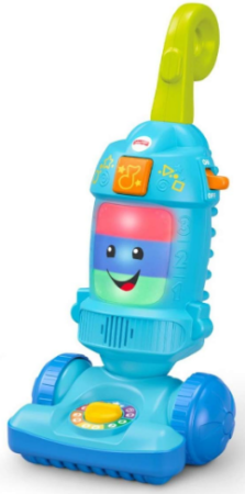 This is an image of Toddler boy's learning vacuum in blue color