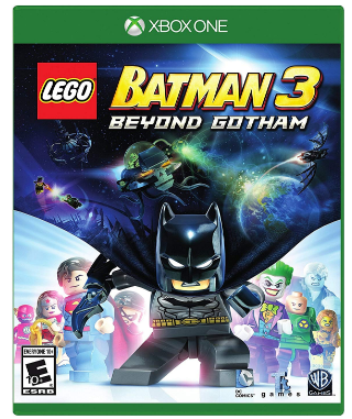 This is an image of kid's LEGO batman 3 game for xbox one