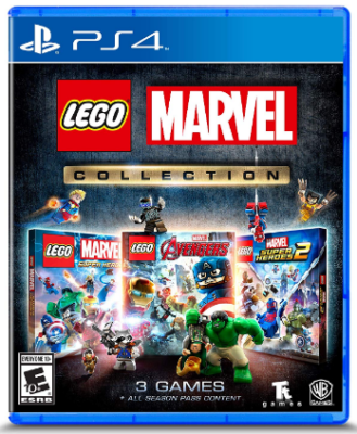 This is an image of kid's lego marvel collection game for playstation 4