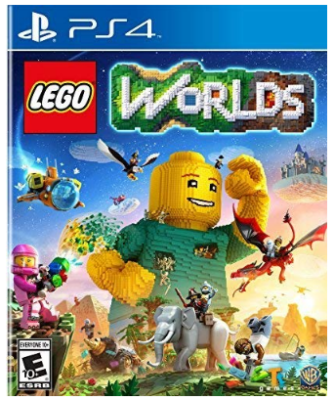 This is an image of kid's LEGO worlds game for playstation 4