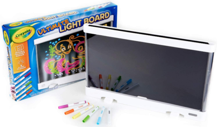 This is an image of girl's light board drawing tablet by Crayola