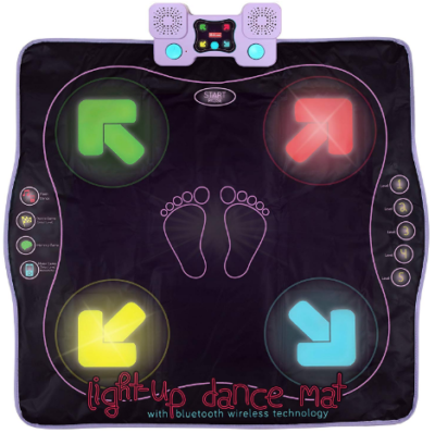 This is an image of kid's light up dance mat in black color