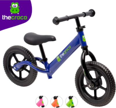 This is an image of toddler's lightweight balance bike in blue color