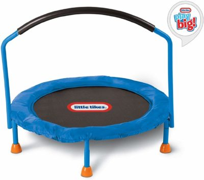 This is an image of a blue trampoline by Little Tikes.