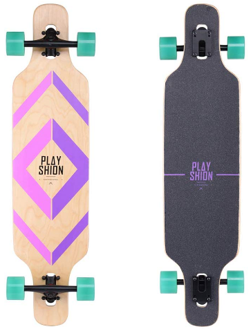 This is an image of kid's longboard skate cruiser in colorful colors