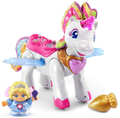 This is an image of girl's Electric magical unicorn toy in colorful colors