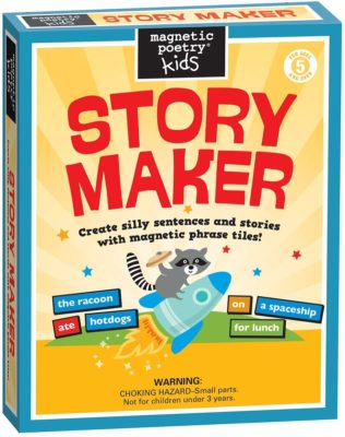 This is an image of a magnet story maker kit for kids by Magnetic Poetry.