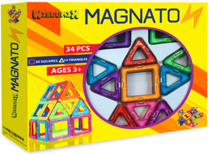 This is an image of boy's magnetic building blocks