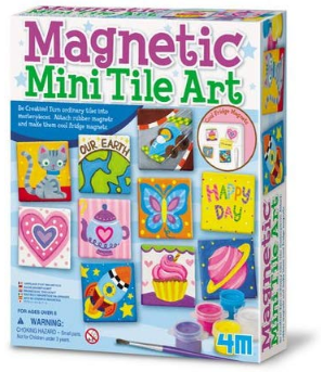This is an image of girl'ss magnetic mini tile art