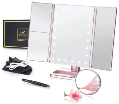 This is an image of girl's makeup vanity mirror