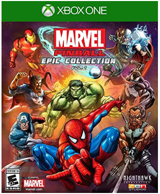 This is an image of kid's marvel pinball epic collection game for xbox one