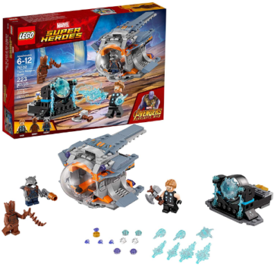 This is an image of kid's LEGO marvel super heores avengers serie building kit