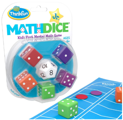 This is an image of boy's Math Dice junior set in colorful colors