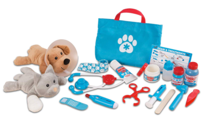 This is an image of a pet vet playset for kids by Melissa & Doug.
