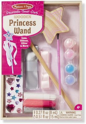 This is an image of a princess wand craft kit by Melissa & Doug.