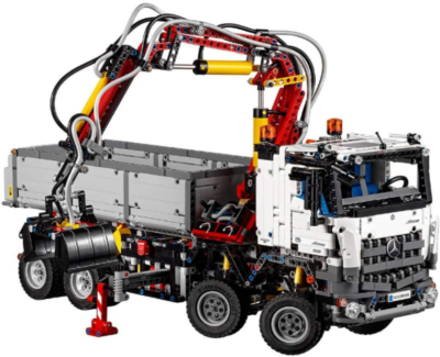 This is an image LEGO Technic Mercedes benz acrocs building kit in colorful colors