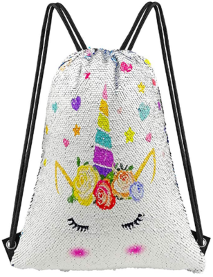 This is an image of girl's mermaid bag in white color