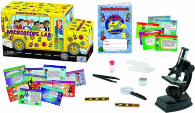 This is an image of a school bus lab science kit by The Young Scientists Club.