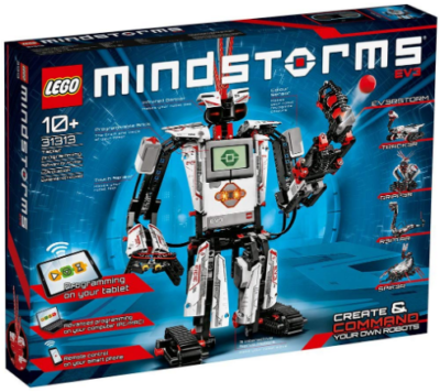This is an image of girl's LEGO mindstorms EV3 robot kit