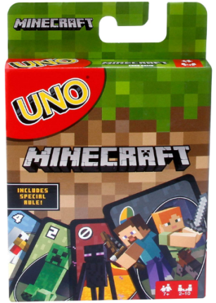 This is an image of kid's minecraft card game