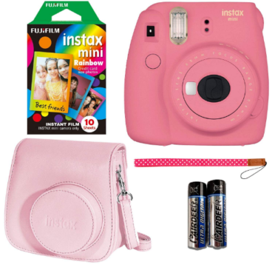 This is an image of girl's mini instant camera pack in pink color