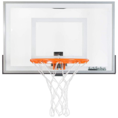 This is an image of boy's mini basketball hoop in white color