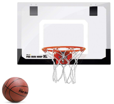 This is an image of boy's mini basketball hoop with ball