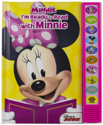 This is an image of girl's minnie mouse book with sounds
