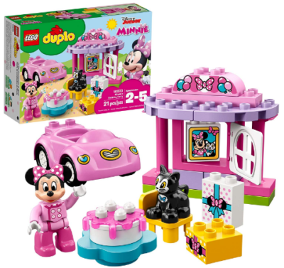 This is an image of girl's Lego duple minnie mouse party building kit