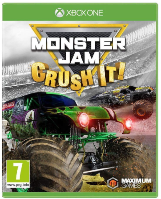 This is an image of kid's Monster jam crush it game for xbox one