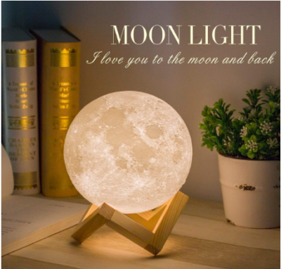 This is an image of mom's moon light night lamp