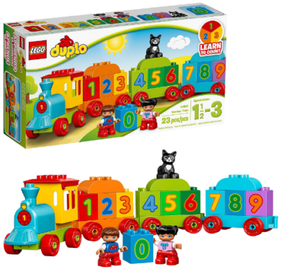This is an image of boy's LEGO duplo train set in colorful colors