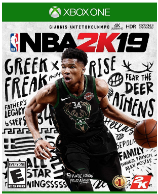 This is an image of kid's NBA 2019 game for xbox one