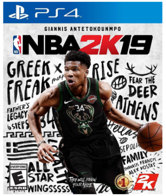 This is an image of kid's NBA 2019 game for playstation 4
