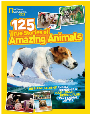 This is an image of girl's Book of Amazing animals by National geographic kids