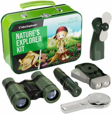 This is an image of a 9 in 1 kid's explorer kit by Mini Explorer.