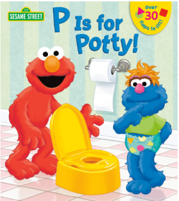This is an image of boy's book P is for potty