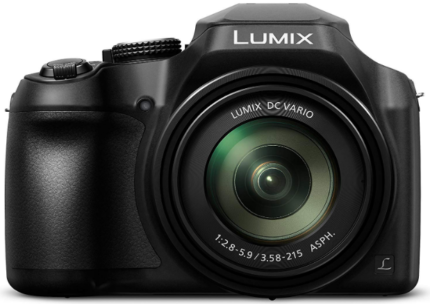 This is an image of boy's panasonic lumix digital camera in black color