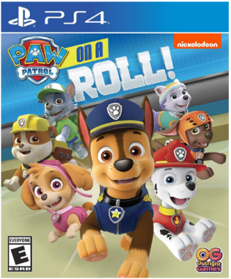 This is an image of kid's paw patrol on a roll game for playstation 4