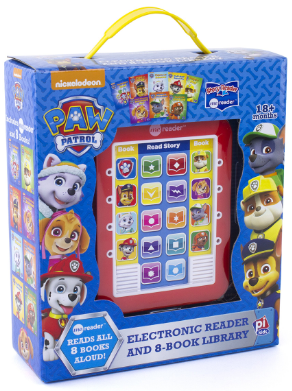 This is an image of girl's paw patrol reader in red color