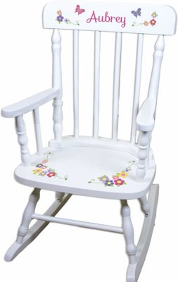 This is an image of a customize butterfly rocking chair for kid by MyBambino